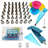Cake Decorating Supplies Tips 52 pcs Set: 42 Stainless Steel Tips, 1 ...