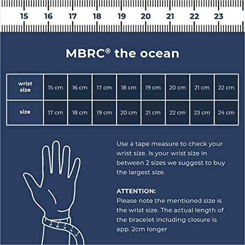 MBRC Atlantic Bottle Seilarmband aus 100/% recycelten Plastik Flaschen hergestellt MBRC Armband mit praktischem click-on Magnetverschlu/ß Surfer Armband- Sportlich chic