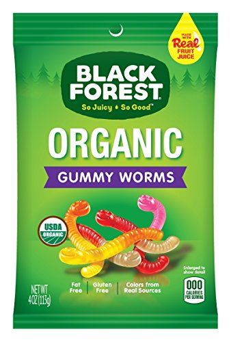 Black Forest Organic Gummy Worms Candy, 4 oz Black Forest Gummy Worms