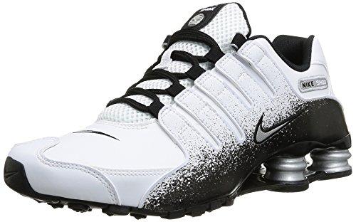 451cafbffd70 Nike Men s Shox NZ EU White Metallic Silver Black Running Shoe 10 Men US -  Buy Online in UAE.