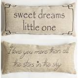 Sweet dreams-love you more baby nursery Throw Pillow
