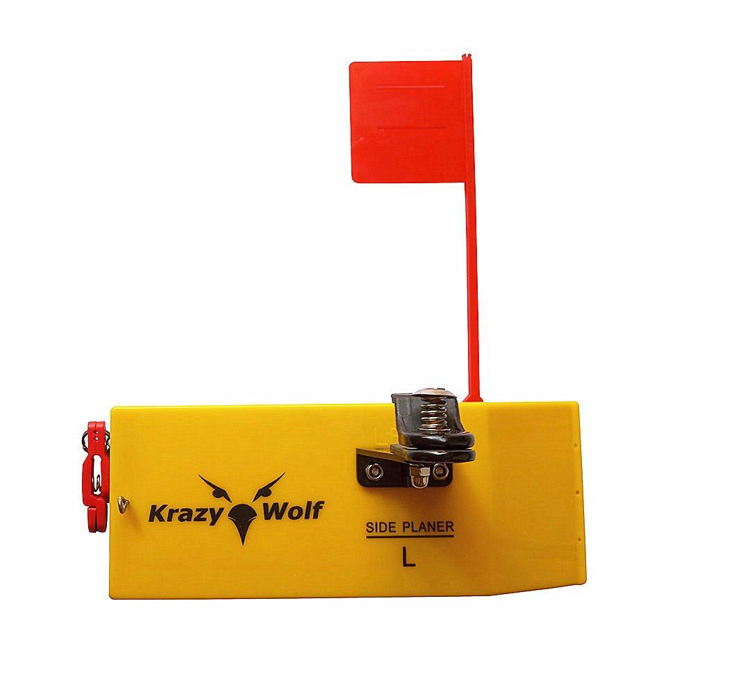 krazywolf Planerサイドボード( p007 )、にはばねフラグシステム、左または右、l10 xw3.5」、「イエロー  Left(Port) B01D332MLK