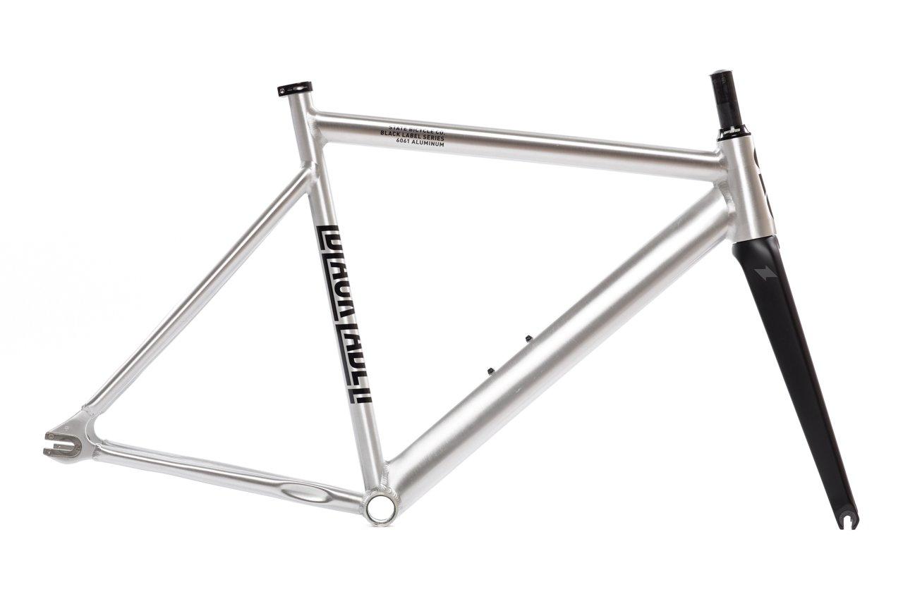 State Bicycle Black Label 6061 v2 Aluminum Frame and Fork Set, Raw, 49cm