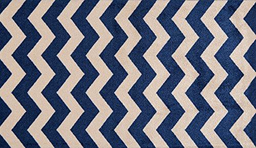 (Studio 67 - Bathroom Rug - Chevron Pattern Non-Skid Rubber Backing for Bathroom and Kitchen Area - 2'3