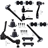 SCITOO 12pcs Suspension Kit 2 Outer Tie Rod 2 Inner Tie Rod 2 Front Sway Bar 1 Idler Arm 1 Pitman Arm 2 Adjusting Sleeve fit 99 00 01 Oldsmobile Bravada 4WD