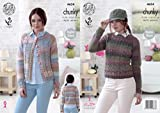 King Cole 4634 Knitting Pattern Womens Cardigan and Sweater in King Cole Cotswold Chunky by King Cole