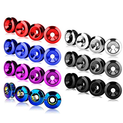 Trunk Fender and Hatch Lids O-Rings x 4 JDM Bumper Quick Release Fasteners For Car Bumpers Blue