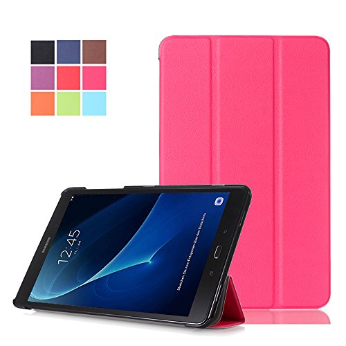 Tab A 10.1 Case, WITCASE Ultra-Slim and Ultra-light PU Leather Folio Case Stand Cover With Smart Cover Auto Wake / Sleep Feature for Samsung Galaxy Tab A SM-T580N/T585N 10.1 2016 Tablet (Rose (4x4 Matte Box Basic)