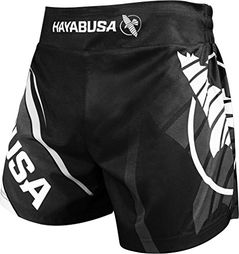 Hayabusa Kickboxing MMA Shorts (Black/White, - Fight Mma Shorts White