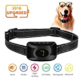 Bark Collar, Dog No Bark Training Collar with Beep Vibration and Harmless Shock with 3 Adjustable Levels, Waterproof Rechargeable Anti Bark Device for Small,Medium,Large Dogs,Stop Barking Safe Humane
