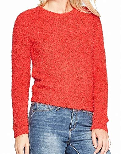 Living Doll Womens Large Pullover Crewneck Sweater Red L ()