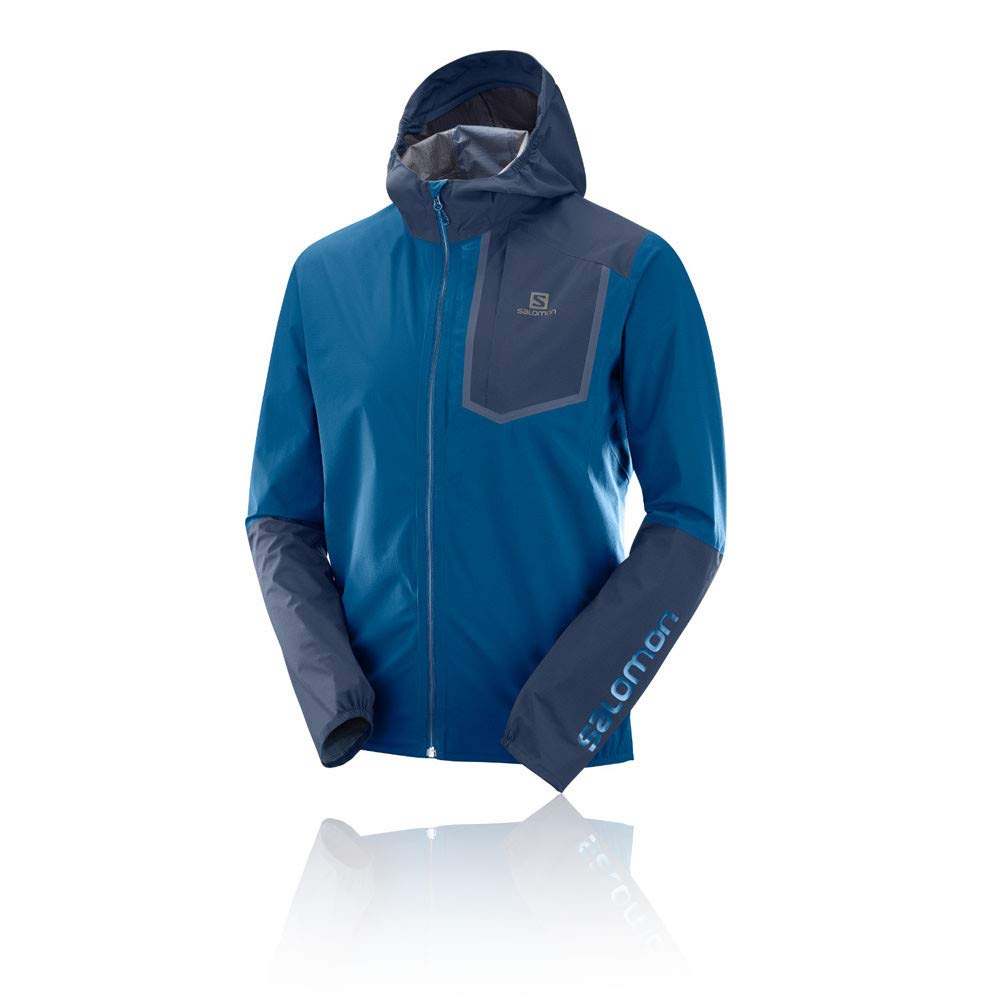 Salomon Men's Bonatti Pro WP Jacket, Poseidon/Night Sky, Small