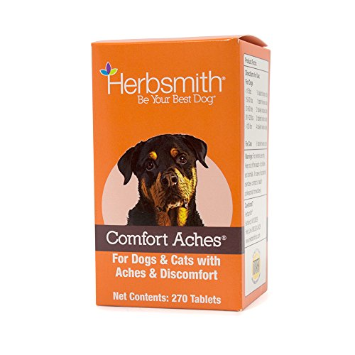 Herbsmith Comfort Aches - Herbal Pain Relief for Dogs + Cats - For Pet Aches + Pains - Anti-Inflammatory Supplement - 270 Tablets