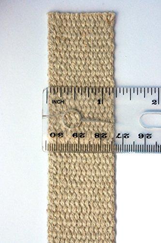 Hemp Webbing - 1.25 inches Wide Hemp Webbing - Your Choice of Length (21 Yards)