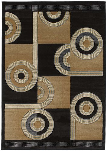 - United Weavers of America Contours Collection Spiral Canvas Heavyweight Heatset Olefin Rug, 2-Feet 7-Inch by 4-Feet 2-Inch, Chocolate