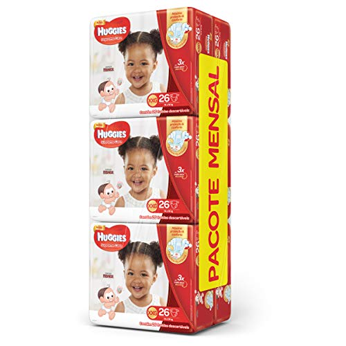 Huggies Pacote Mensal Supreme Care Mega XXG, 156 Fraldas