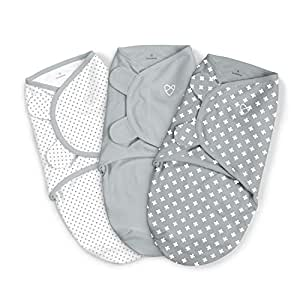 SwaddleMe Original Swaddle – Size Small, 0-3 Months, 3-Pack (Criss Cross Polka Dot)