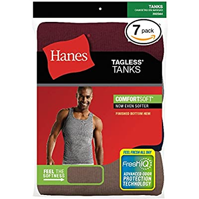 Hanes Classics Men's Classics 7-Pack A-Shirt Value Pack (Assorted, Small)
