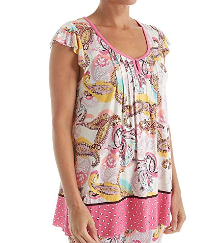 Ellen Tracy Traveler Short Sleeve Top (8418436) S/Multi Paisley