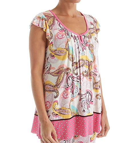 Ellen Tracy Traveler Short Sleeve Top (8418436) S/Multi Paisley