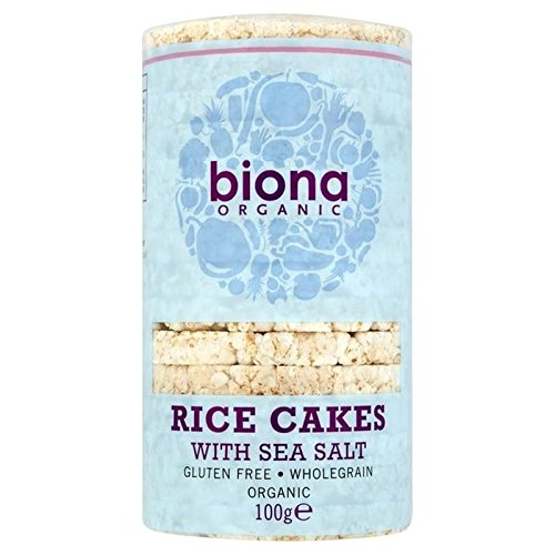 Biona Organic Rice Cakes With Sea Salt 100g - Pack of 2