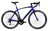 Cheap Tommaso Monza Endurance Aluminum Road Bike, Carbon Fork, Shimano Tiagra, 20 Speeds, Aero Wheels – Blue – Extra Small