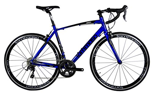 Tommaso Monza Endurance Aluminum Road Bike, Carbon Fork, Shimano Tiagra, 20 Speeds, Aero Wheels - Blue - Extra (Aero Fork)