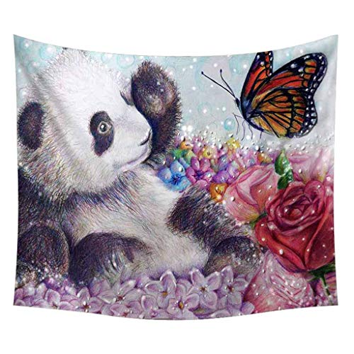 Indoor Tapestry, pollyhb Lovely Panda Picture Tapestry Wall Hanging Home Decoration for Children Kids Room