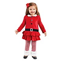 CHIC-CHIC Princesse Déguisement Noël Robe Bébé Fille Costume & Veste + Legging Vêtement Christmas Party Bal Dress