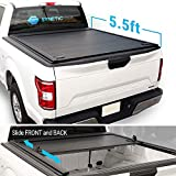 Syneticusa Aluminum Roll-Up Retractable Hard Tonneau Cover Cargo for 2004-2019 Ford F-150 F150 5.5ft Short Truck Bed (Hard Roll-Up Cover)