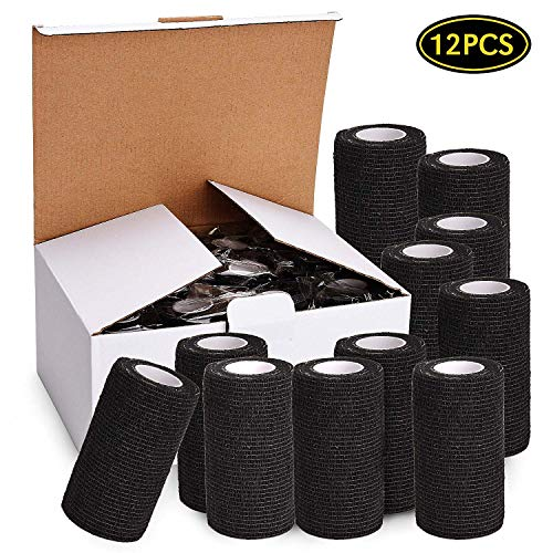 12Pcs Self Adherent Cohesive Bandage Wrap Roll 4