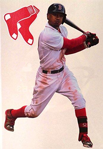 Mookie Betts Mini FATHEAD Boston Red Sox Logo Official MLB Vinyl Wall Graphics 7