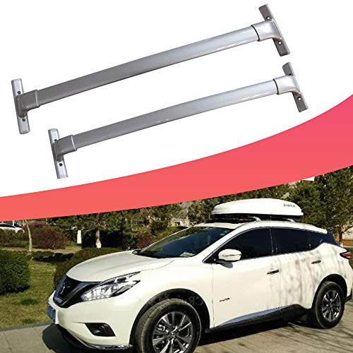 SnailAuto 2pcs Silver Aluminum Cross Bars Roof Rack Cargo Bar Fit for Nissan 3rd Murano 2015-2019 ()