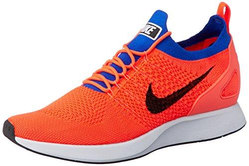Nike Men's Air Zoom Mariah Flyknit Racer Running Shoes (9 M US, Total Crimson/Black-racer Blue) (Orange Nike Shoes Women)