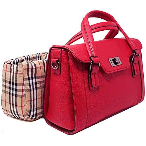 Women DSLR Camera Bag Ladies Top-Handle Multi-Functional Handbag Case with Removable Padded Organizer