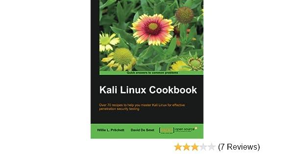 Kali Linux Cookbook Willie L Pritchett David De Smet