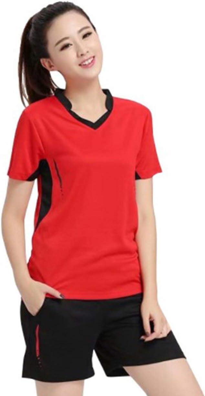 Conjunto de camisa de tenis para mujer Ropa de bádminton Conjunto de tenis Ropa de tenis de mesa Camisa deportiva transpirable + Falda de tenis Traje - Rojo - 3XL
