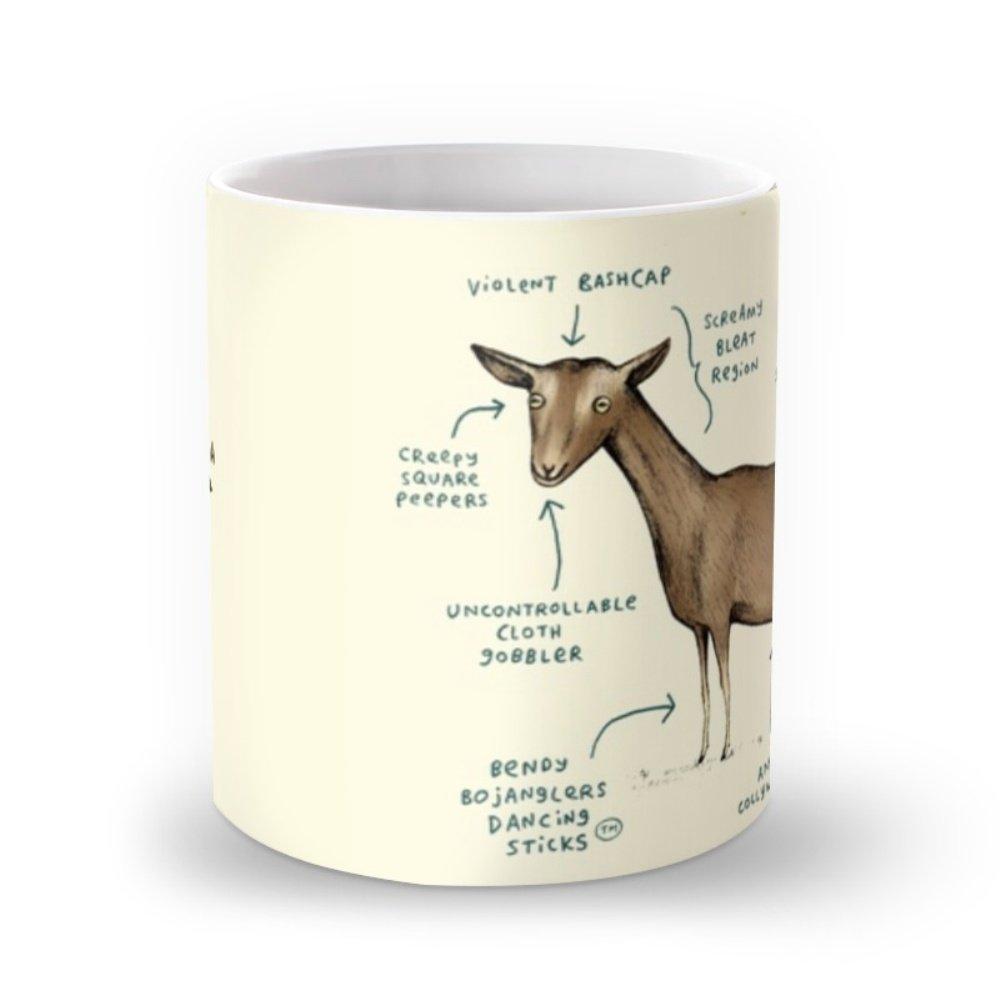 Amazon.com: Society6 Anatomy Of A Goat Mug 11 oz: Sophie Corrigan ...