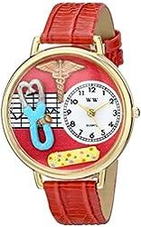 Whimsical Watches Unisex G0620053 Nurse 2 Analog Display Japanese Quartz Red Watch