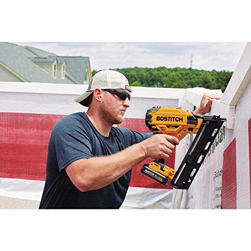 BOSTITCH BCN650D1 20V MAX 15 Gauge Fn Angled Cordless Finish Nailer (Includes Battery and Charger)