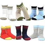 Naartjie Kids Boys Basic Sports Cotton Crew Socks 6 Pair Pack