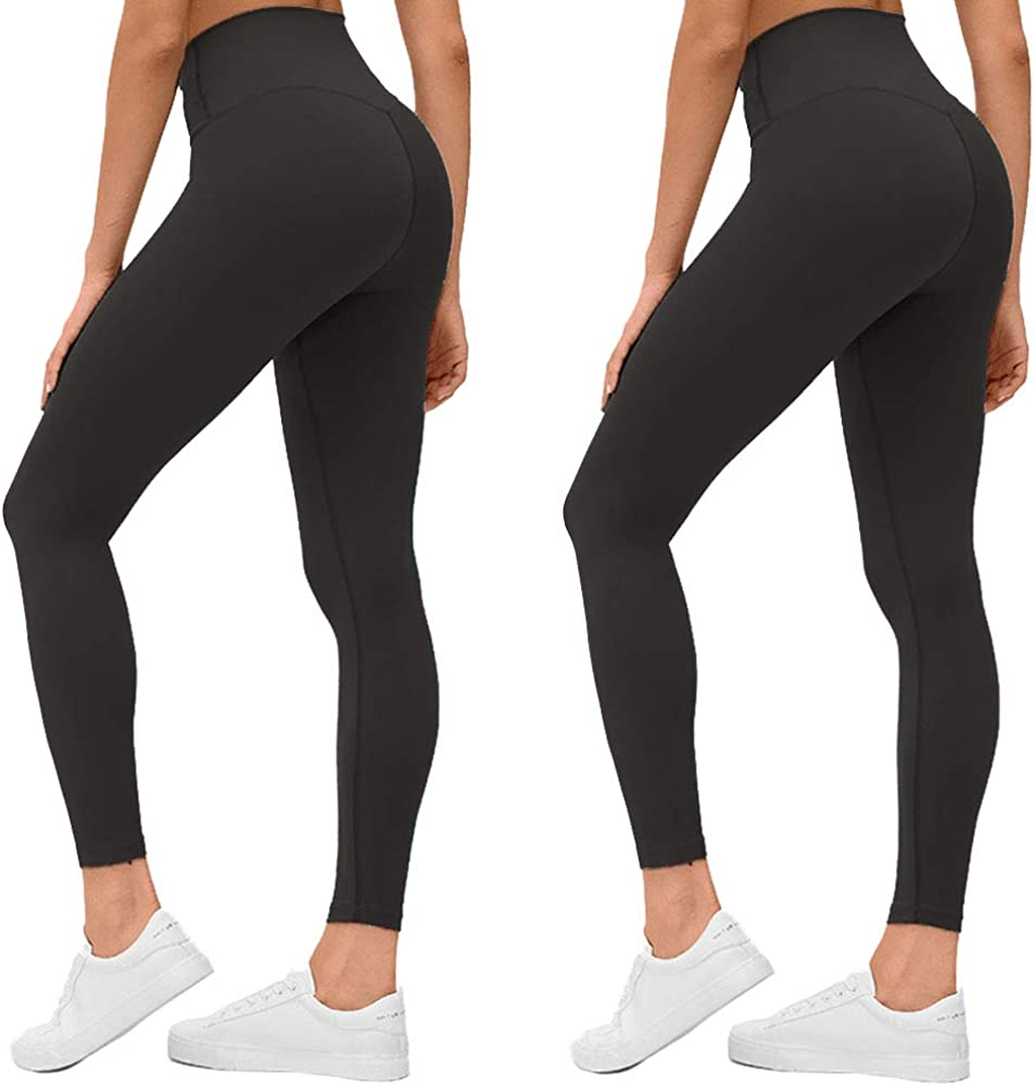 we fleece High Waisted Capri Leggings for Women - Tummy Control Workout Yoga Pants Athletic Sport 1/2/3 Pack Women's Leggings : Clothing