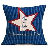 Vibola American Flag Throw Pillow Cases July 4th Cushion...