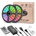 LED Strip Lights, Usieka 300 LEDs 33ft SMD5050 LED Light Strip IP65 Waterproof RGB LED Strip Color Changing LED Tape Light Kit with 44 Keys IR Remote Controller and 12V 5A Power Supply
