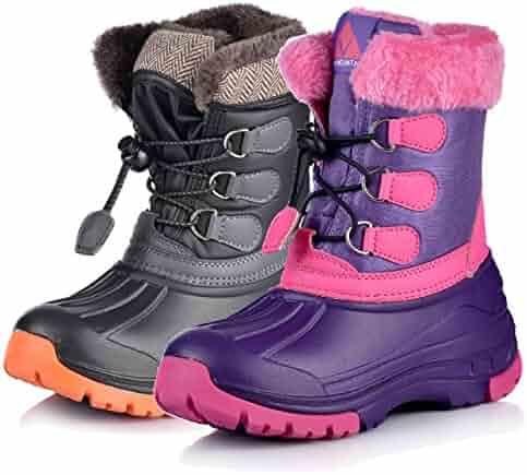 Nova Mountain Boy's and Girl's Winter Snow Boots