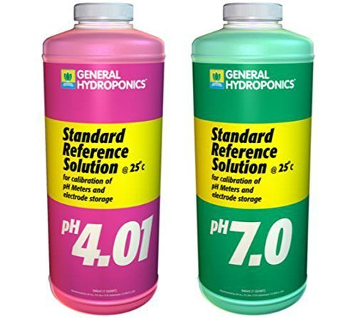 General Hydroponics Ph 4.01 & Ph 7.0 Calibration Solution Kit, Quart Size