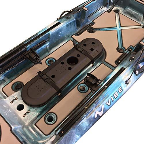 Marine Mat Elite Series Deck Padding Kit - Sea Ghost 110 Fishing Kayak (Slate Gray Blue Piping - Interior Kit)