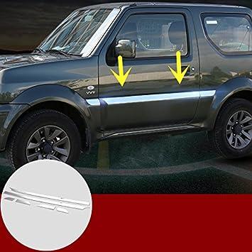 ABS cromado lateral puerta cuerpo moldes para adornos, 6 piezas para Suzuki Jimny 2007 - 2015: Amazon.es: Coche y moto