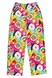 iscream Big Girls Fun Print Silky Soft Plush Pants - Tutti Fruiti, Medium