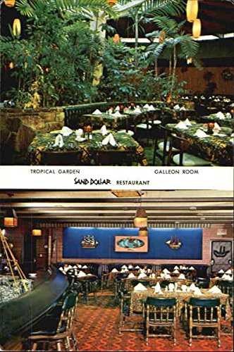 Tropical Garden And Galleon Room At The Sand Dollar Restasurant And Lounge Original Vintage Postcard (Dollar Sand Lounge)